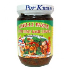Chili Paste w Holy Basil Leaves, Por Kwan