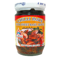 Chili Paste with Sweet Basil Leaves, Por Kwan (6pks)