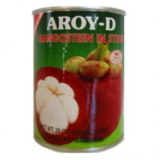 Mangosteen in Syrup, Aroy D 20 oz.