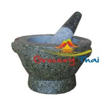Granite Mortar and Pestle 8 ""