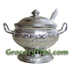 Thai Rice Serving Bowl 22cm w Spoon