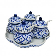 Thai Ceramic Condiment Set of 4