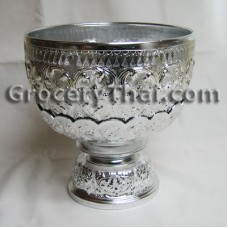 Thai Aluminum Bowl w Stand
