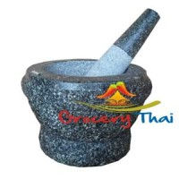 Granite Mortar and Pestle 9""