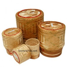 Sticky Rice Serving Bamboo Container, Set of 4
