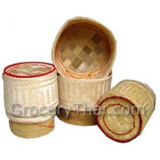 Sticky Rice Serving Bamboo Container, set of 3