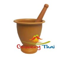"Thai Laos Plastic Mortar and pestle, 7"""