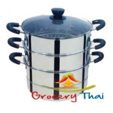 3-Tier Stainless Steel Steamer 24 cm