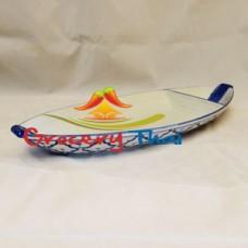 Thai Ceramic Boat Shape Serving Plate