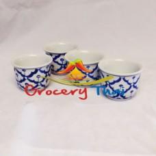 Thai Ceramic Tea Cup, Set of 4