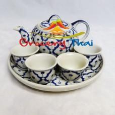 Thai Ceramic Small Tea Pot w Cup Set
