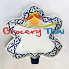 Thai Ceramic Maple Leaf Shape Serving Plate, Set of 2