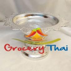 Thai Aluminum Pedestal Tray 20 cm