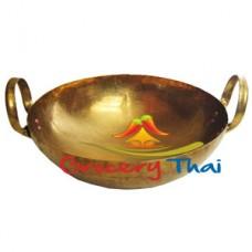 Thai Solid Brass Wok size 10