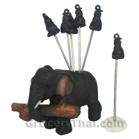 Log Carrying Elephant Fruit and Appetizer Fork Set