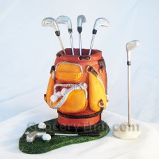Golf Club Fruit and Appetizer Fork Set- Orange