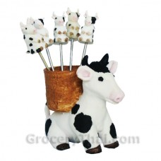 Sitting Cow Fruit and Appetizer Fork Set