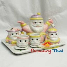 Miniature Santa Child ceramic Tea Set 10pcs. C337